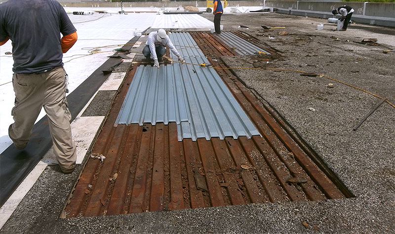 flat roof patch repairs