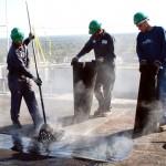 Hot Mop Application - Modified Bitumen